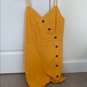 Yellow AE Button down dress - Never Worn